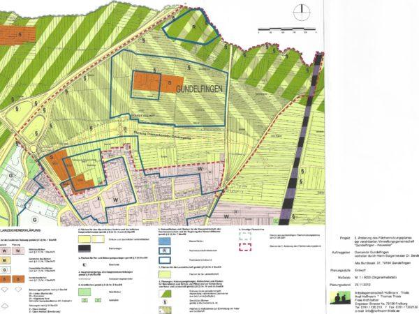 FNP Gundelfingen-Heuweiler 3. Änderung Entwurf 2013