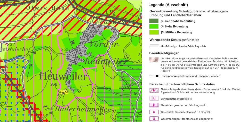 Heuweiler im Landschaftsrahmenplan
